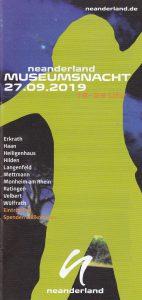 27.09. - bei der neanderland Museumsnacht dabei