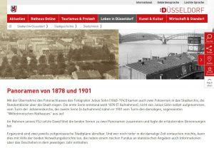 Panorama Düsseldorfs 1878 und 1901