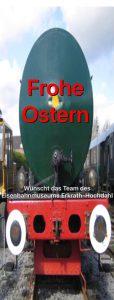 Frohe Ostern wünscht der Lokschuppen Hochdahl